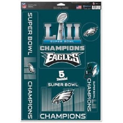 Philadelphia Eagles Super Bowl LII 5-Pack Multi-Use Decals WinCraft