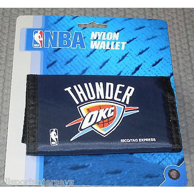 NBA Oklahoma City Thunder Tri-fold Nylon Wallet with Printed Logo