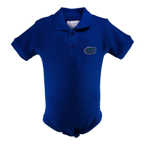 NCAA Florida Gators Royal Golf Shirt Romper 1 Pc NB Two Feet Ahead