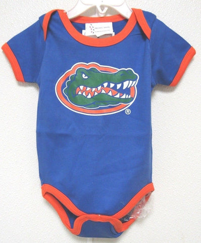 NCAA Florida Gators Royal Lap Shoulder Ringer 1 Pc 12M by Two Feet Ahead