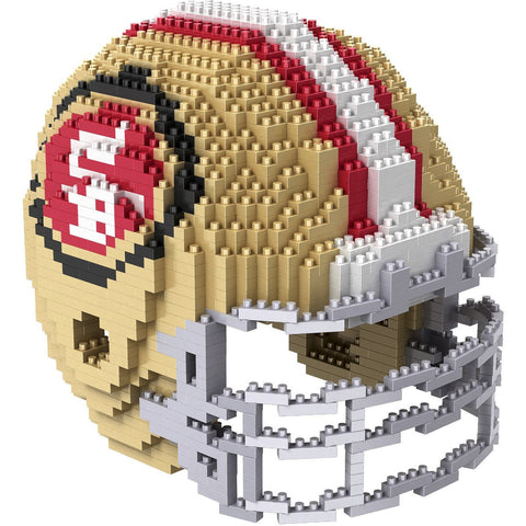 NFL San Francisco 49ers Helmet Shaped BRXLZ 3-D Puzzle 1378 Pieces