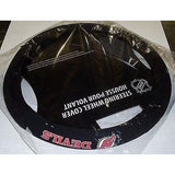 NHL POLY-SUEDE MESH STEERING WHEEL COVER NEW JERSEY DEVILS