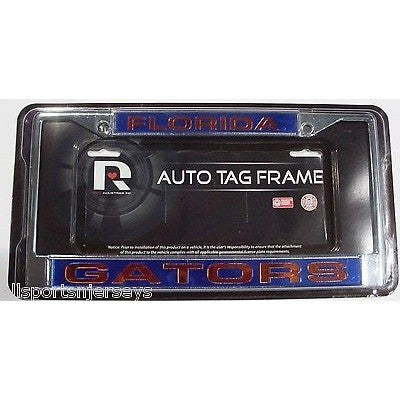 NCAA Florida Gators Laser Cut Chrome License Plate Frame