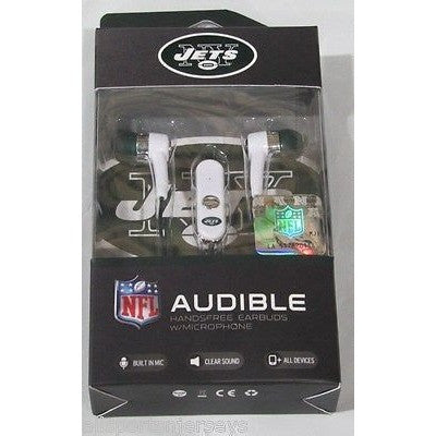 NFL New York Jets Team Logo Earphones with Microphone by MIZCO