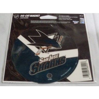 NHL San Jose Sharks Round Stick Style 4 inch Auto Magnet by WinCraft