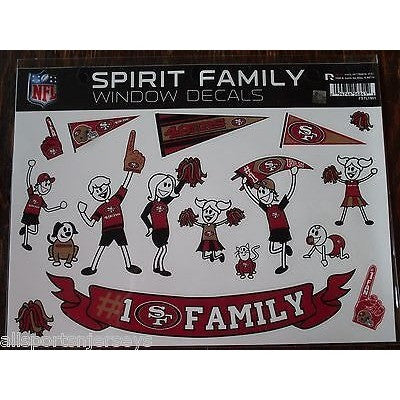 NFL San Francisco 49ers Spirit Family Decals Set of 17 by Rico Industries