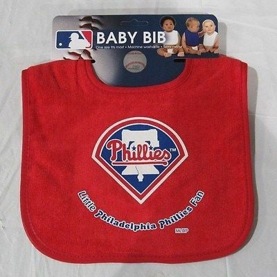 MLB Little Philadelphia Phillies Fan Infant Baby Bib All Red Wincraft