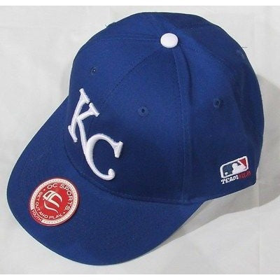 MLB Kansas City Royals Youth Cap Flat Brim Raised Replica Cotton Twill Hat
