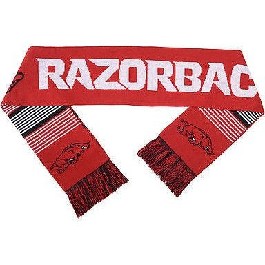 "NCAA 2015 Reversible Split Logo Scarf Arkansas Razorbacks 64"" by 7"" FOCO"