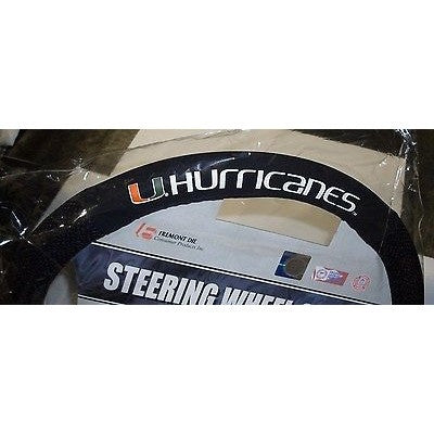 NCAA POLY-SUEDE MESH STEERING WHEEL COVER MIAMI HURRICANES