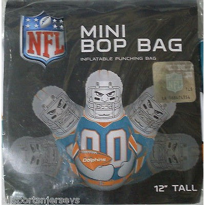 NFL Miami Dolphins 12 Inch Mini Bop Bag by Fremont Die