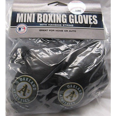 MLB Oakland Athletics 4 Inch Rear View Mirror Mini Boxing Gloves