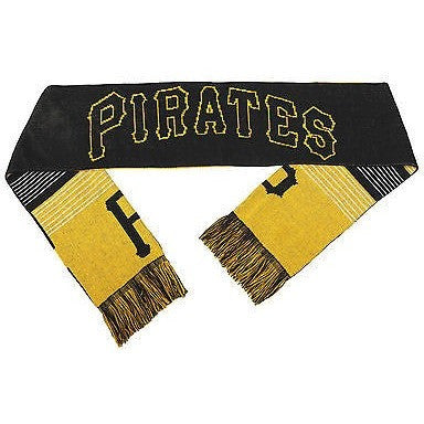 "MLB 2015 Reversible Split Logo Scarf Pittsburgh Pirates 64"" x 7"" by FOCO"