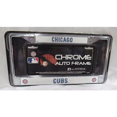MLB Chicago Cubs Chrome License Plate Frame Thin Letters