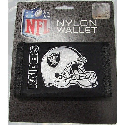 NFL Oakland Raiders Tri-fold Nylon Wallet with Printed Helmet