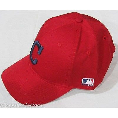MLB Cleveland Indians Alt Logo Adult Cap Curved Brim Raised Replica Cotton Twill Hat