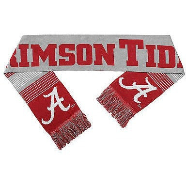 "NCAA 2015 Reversible Split Logo Scarf Alabama Crimson Tide 64"" by 7"" FOCO"