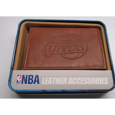 NBA Los Angles Clippers Embossed TriFold Leather Wallet With Gift Box