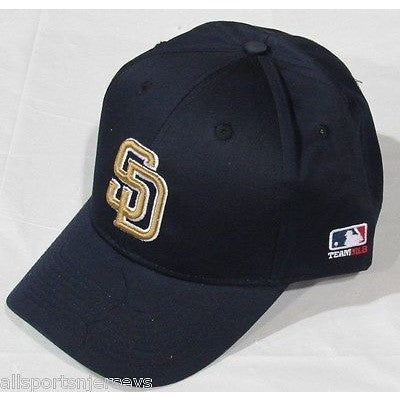 MLB San Diego Padres Adult Cap Curved Brim Raised Replica Cotton Twill Hat Navy Road