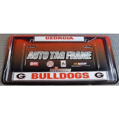 NCAA Georgia Bulldogs Chrome License Plate Frame Thick Letters