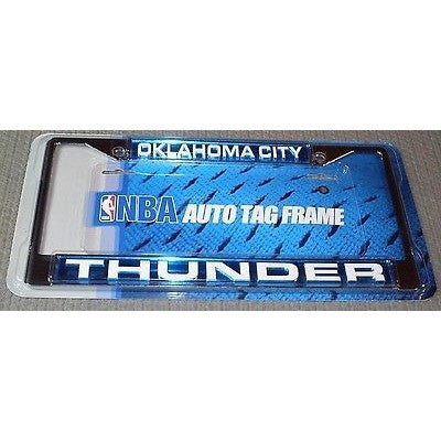 NBA OKLAHOMA CITY THUNDER LICENSE PLATE FRAME LASER-CUT