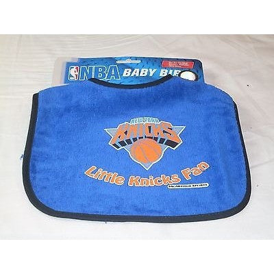 NBA Little New York Knicks Fan Infant Baby Bib All Blue Wincraft