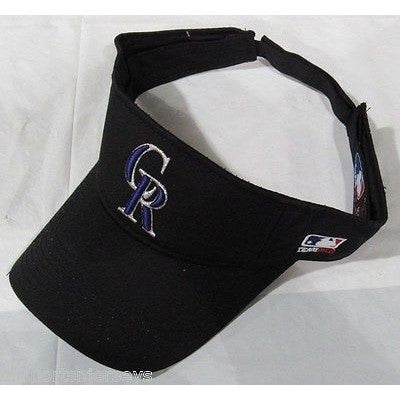 MLB Colorado Rockies Visor Cotton Twill Replica Adjustable Strap Adult
