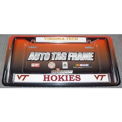 NCAA Virginia Tech Chrome License Plate Frame 2 Color Letters