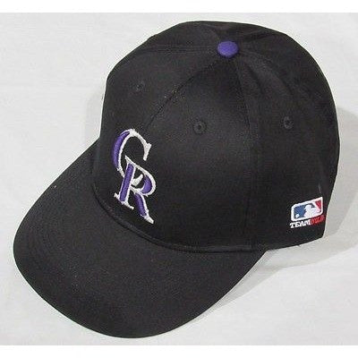 MLB Colorado Rockies Adult Cap Flat Brim Raised Replica Cotton Twill Hat Home