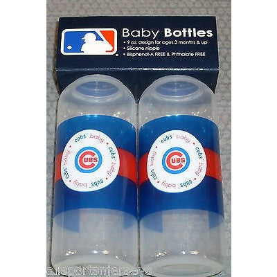 MLB Chicago Cubs 9 fl oz Baby Bottle 2 Pack by baby fanatic