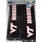 NCAA Virginia Tech Hokies Velour Seat Belt Pads 2 Pack by Fremont Die