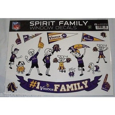 NFL Minnesota Vikings Spirit Family Decals Set of 17 by Rico Industries