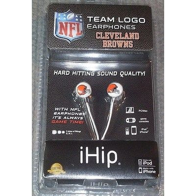NFL iHip Team Logo Earphones Cleveland Browns