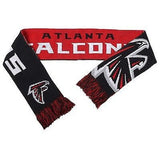 "NFL 2015 Reversible Split Logo Scarf Atlanta Falcons 64"" by 7"" FOCO"