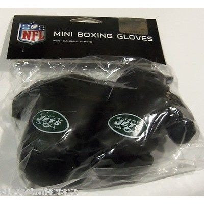 NFL New York Jets 4 Inch Rear View Mirror Mini Boxing Gloves