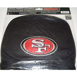 NFL San Francisco 49ers Headrest Cover Embroidered Logo Set of 2 by Team ProMark