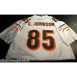 BLEMISHED NFL CINCINNATI BENGALS CHAD JOHNSON #85 AWAY CHASE REEBOK JERSEY XL