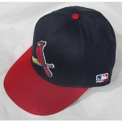 MLB St. Louis Cardinals Adult Cap Flat Brim Raised Replica Cotton Twill Hat