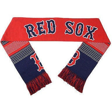 "MLB 2015 Reversible Split Logo Scarf Boston Red Sox 64"" x 7"" by FOCO"