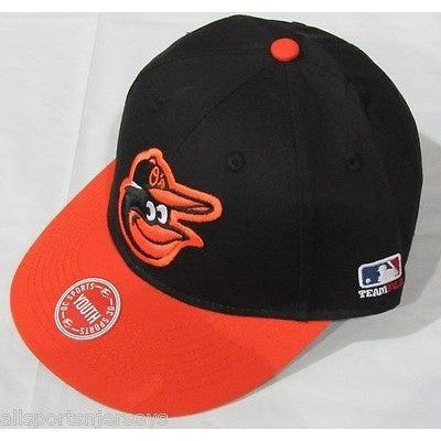 MLB Baltimore Orioles Youth Cap Flat Brim Raised Replica Cotton Twill Hat