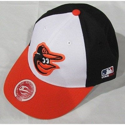 MLB Baltimore Orioles Youth Cap Flat Brim Raised Replica Cotton Twill Hat Home