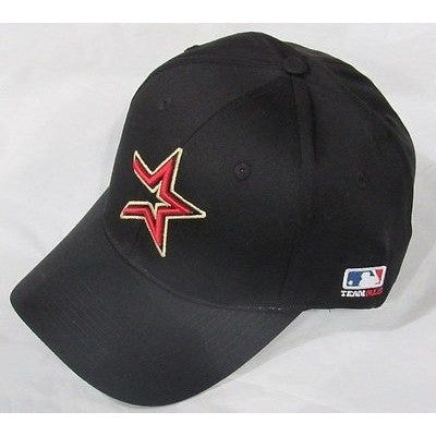 MLB Houston Astros Adult Cap Curved Brim Raised Replica Cotton Twill Hat Black