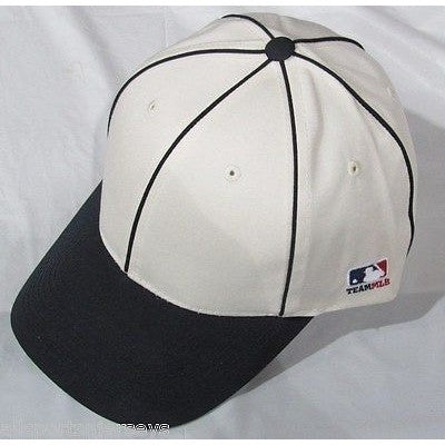 MLB Chicago White Sox Adult Cap Flat Brim Raised Replica Cotton Twill Hat White/Black