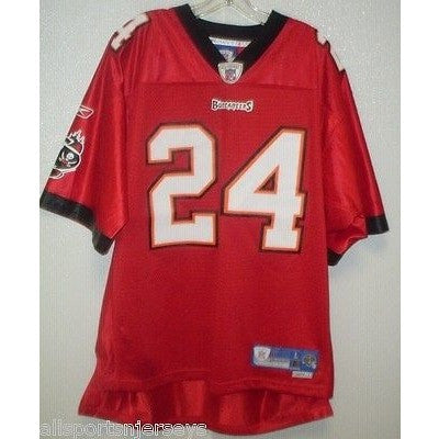 BLEMISHED NFL BUCCANEERS CADILLAC WILLIAMS #24 HOME COLORS REEBOK JERSEY ADULT L