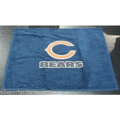 "NFL Chicago Bears Logo and Name Fan Towel Navy 15"" by 25"" by WinCraft"