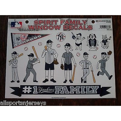 MLB New York Yankees Spirit Family Decals Set of 17 by Rico Industries