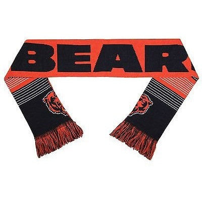 "NFL 2015 Reversible Split Logo Scarf Chicago Bears 64"" by 7"" FOCO"