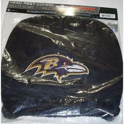 NFL Baltimore Ravens Headrest Cover Embroidered Logo Set of 2 by Team ProMark