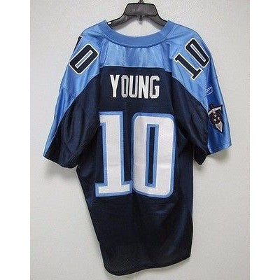 BLEMISHED NFL TENNESSEE TITANS VINCE YOUNG #10 AUTHENTIC REEBOK JERSEY SIZE 56