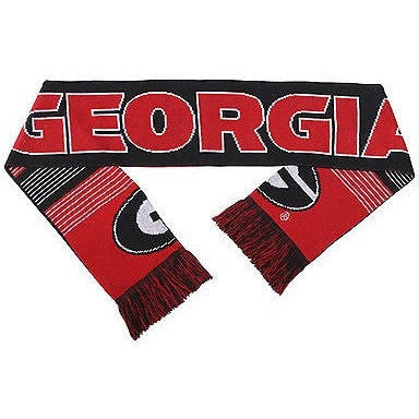 "NCAA 2015 Reversible Split Logo Scarf Georgia Bulldogs 64"" by 7"" FOCO"